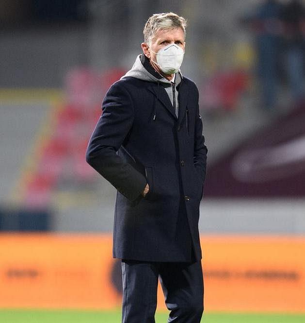 Trenér české reprezentace Jaroslav Šilhavý před utkáním Ligy národů proti Izraeli.