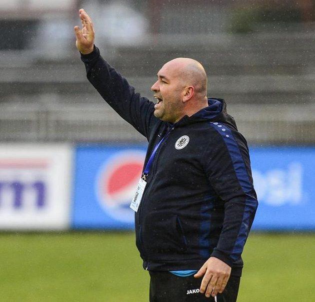 Trenér Hradce Králové Bohuslav Pilný během utkání s Brnem.