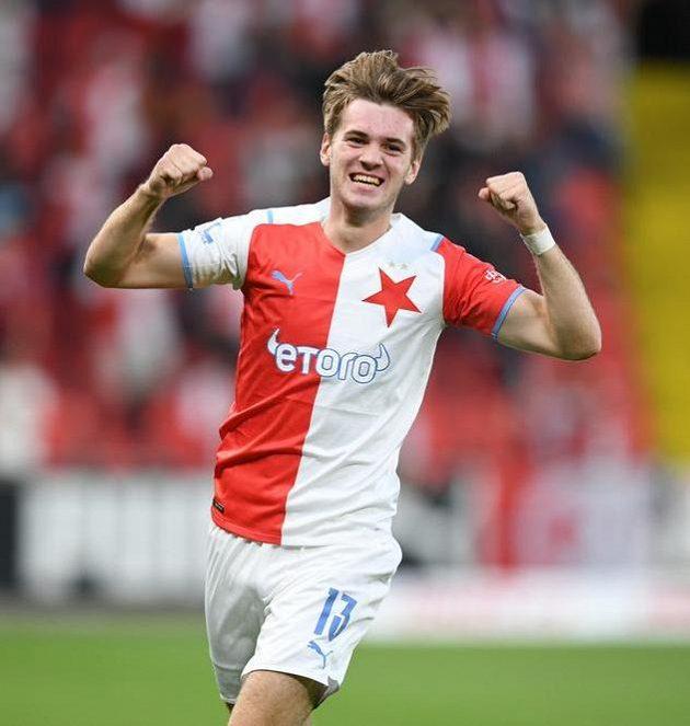 Řádí dál! Sedmnáctiletý slávistický talent Daniel Samek slaví gól.