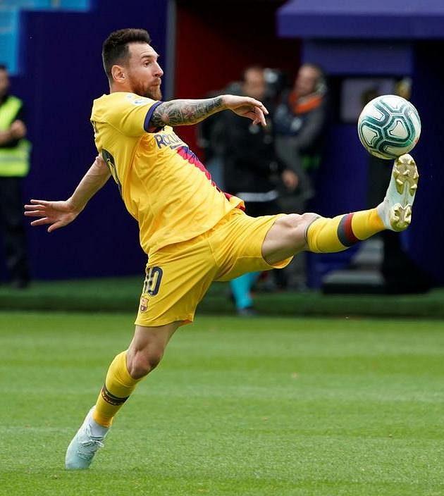 Barcelonský Lionel Messi v akci.