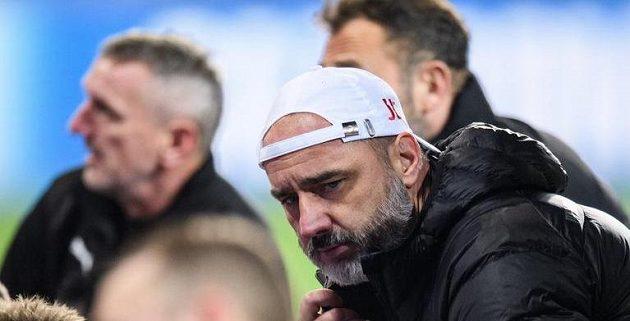 Trenér Slavie Praha Jindřich Trpišovský po utkání základní skupiny Ligy mistrů s Interem Milán.