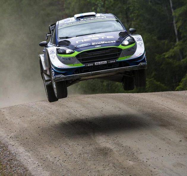 Teemu Suninen na trati Finské rallye.