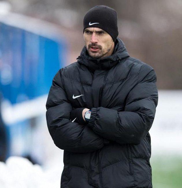 Trenér Příbrami Kamil Tobiáš během utkání zimní Tipsport ligy s Táborskem.