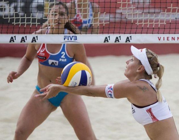 Markéta Sluková během zápasu na mistrovství světa.