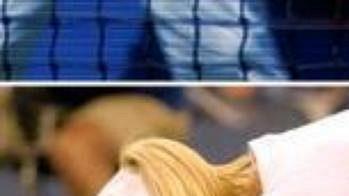 Vyčerpaná Justine Heninová po semifinále sJennifer Capriatiovou.