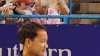 Michael Chang při rozlučkovém ceremoniálu po turnaji vCincinnati.