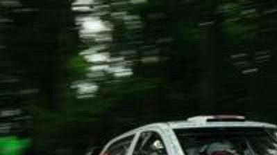 Jan Kopecký s vozem Škoda Fabia WRC na trati Německé rallye