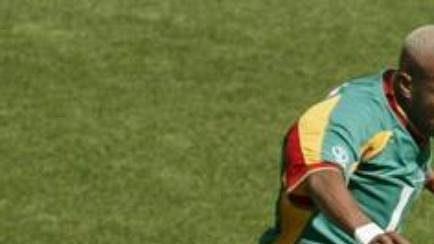 Útočník Hadji Diouf v dresu Senegalu.