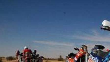 Motocyklista Ivo Kaštan na trati Rallye Dakar.