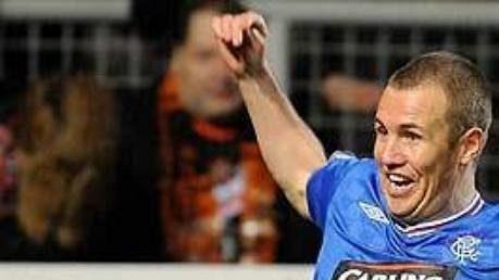 Kenny Miller, nejlepší střelec Glasgow Rangers, v základní sestavě překvapivě nebude.