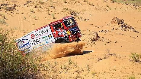 Karel Loprais s vozem MAN na letošní Silk Way Rally.