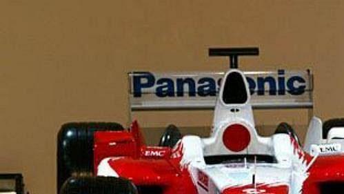 Monopost stáje Toyota s označením TF 104 pro sezónu 2004.