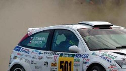 Roman Kresta s fordem při Rallye Bohemia.