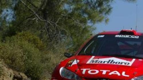 Peugeot finského pilota Markuse Grönholma při Kyperské rallye.