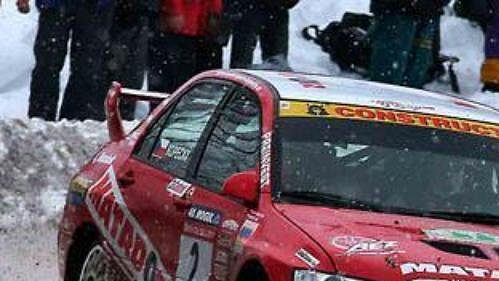 Jan Kopecký za volantem vozu Mitsubishi Lancer při 40. ročníku Rallye Šumava.