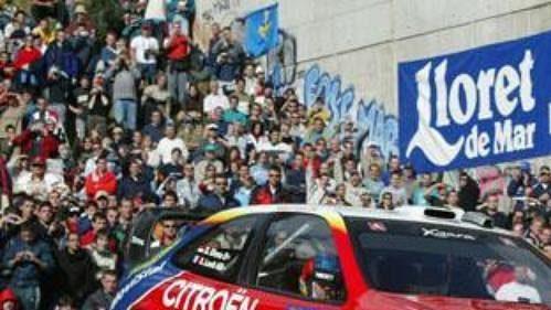 Sébastien Loeb na trati Katalánské rallye.