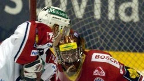 Brankář Roman Málek byl největší hvězdou vítězů.