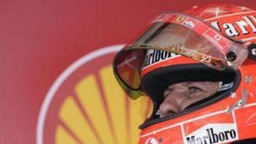 Pilot týmu Ferrari Michael Schumacher