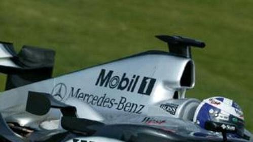David Coulthard testuje ve Valencii nový monopost McLaren s označením MP4-19