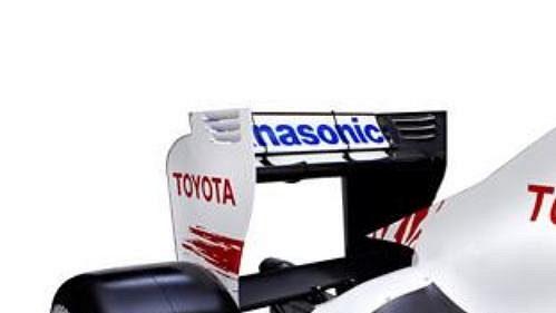 Zadní část monopostu týmu Toyota s označením TF109 - ilustrační fotografie