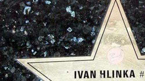 Hvězda Ivana Hlinky vChodníku slávy ve Velké Bíteši