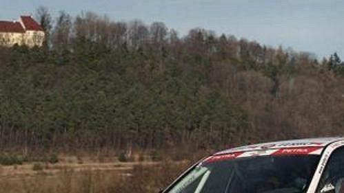 Václav Pech za volantem vozu Mitsubishi Lancer EVO IX