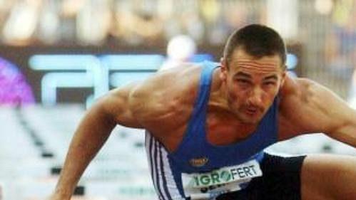 Desetibojař Roman Šebrle se představil na Zlaté tretře v závodě na 110 metrů překážek.