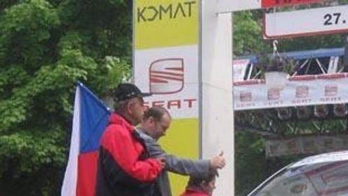 Štěpán Vojtěch na startu českokrumlovské rallye. (Ilustrační foto)