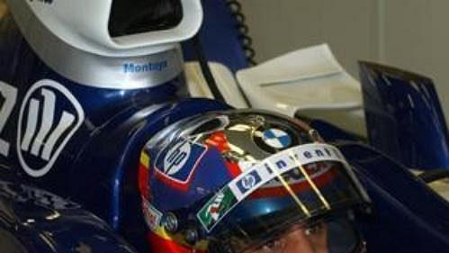Juan Pablo Montoya na williamsu při páteční kvalifikaci na GP Německa na okruhu vHockenheimu.