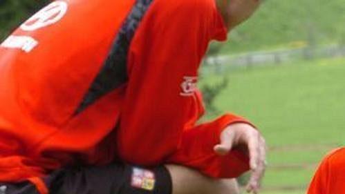 Libor Sionko při tréninku české fotbalové reprezentace vSeefeldu.