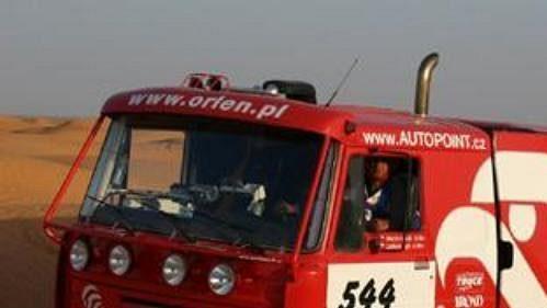 Martin Macík za volantem svého speciálu LIAZ pro Rallye Dakar.