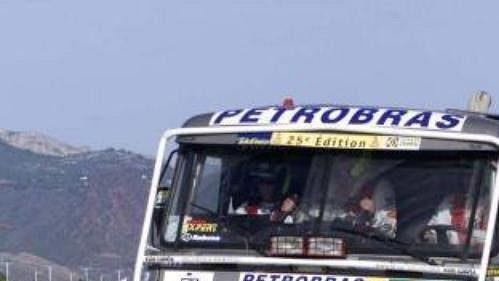 Tatra Tomáše Tomečka na trati 3. etapy Rallye Dakar