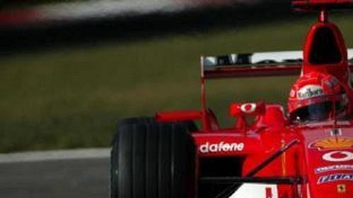 Michael Schumacher při páteční kvalifikaci na Velkou cenu Itálie.