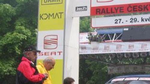 Subaru Impreza WRC Romana Kresty na startu 32. Seat Rallye Český Krumlov.