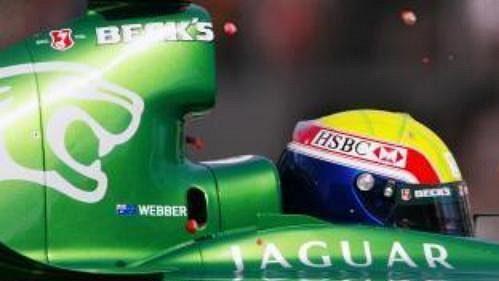 Australan Mark Webber sjaguarem.