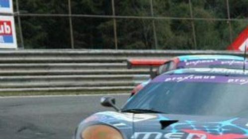Jarek Janiš za volantem vozu Ferrari 360 Modena při čtyřiadvacetihodinovce ve Spa.