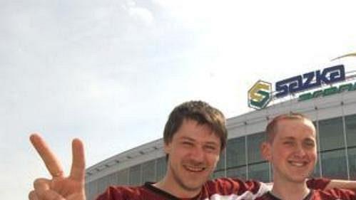 Lotyšští hokejoví fandové jsou vyhlášení svým nadšením. (ilustrační foto)