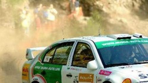 Toni Gardemeister za volantem octavie při Turecké rallye.