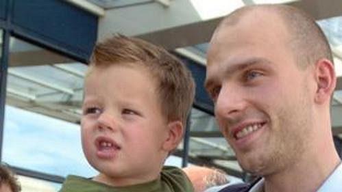 Patrik Štefan se synem