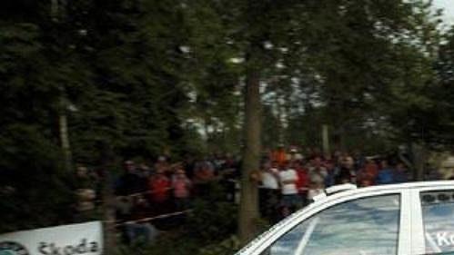 Posádka Jan Kopecký - Filip Schovánek s Fabií WRC při letošní Rally Bohemia.