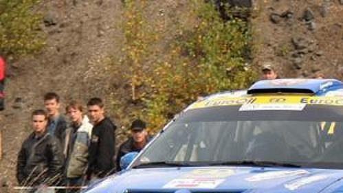 Václav Pech s vozem Ford Focus WRC