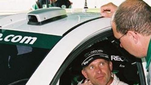 Armin Schwarz (vlevo) a šéf týmu Škoda Motorsport Martin Mühlmeier.