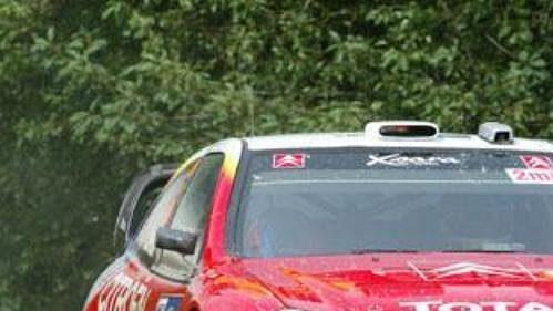 Sébastien Loeb scitroënem na trati Německé rallye.