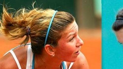 Rumuská tenistka Simona Halepová před a po plastické operaci poprsí.