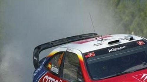 Carlos Sainz scitroenem na trati Turecké rallye.