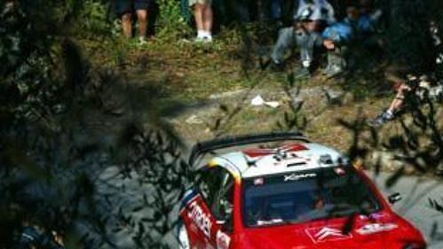 Sébastien Loeb na trati čtvrtečního shakedownu.