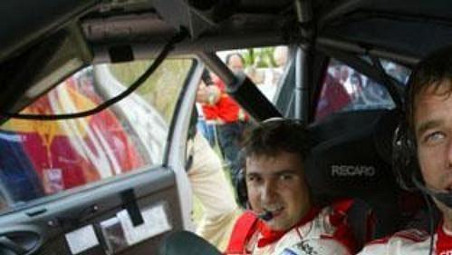 Posádka továrního týmu Citroën Sébastien Loeb (vpravo) a Daniel Elena