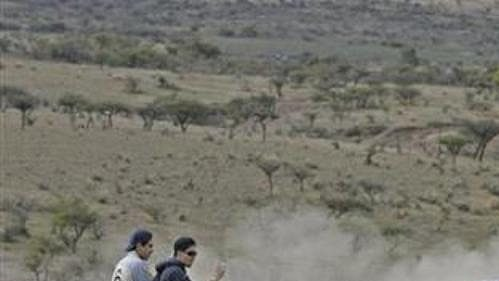 Norský jezdec Petter Solberg se subaru na trati Mexické rallye.