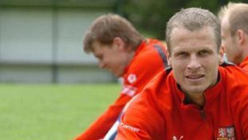 David Rozehnal při tréninku české fotbalové reprezentace.