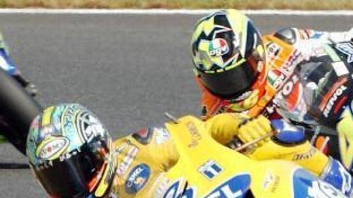 Ital Max Biaggi na své hondě při závodu MS vJaponsku